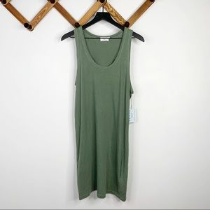 FRAME washed out faded green shirt dress✨szM
